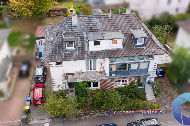 Immobilienfoto mit einer Drohne