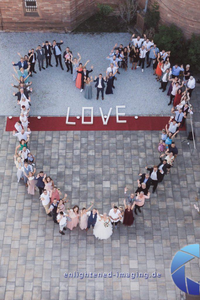 Drohnenfotos / Drohnenaufnahmen / Luftbildaufnahmen Hochzeit